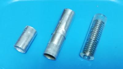 アルミパイプとガラス管