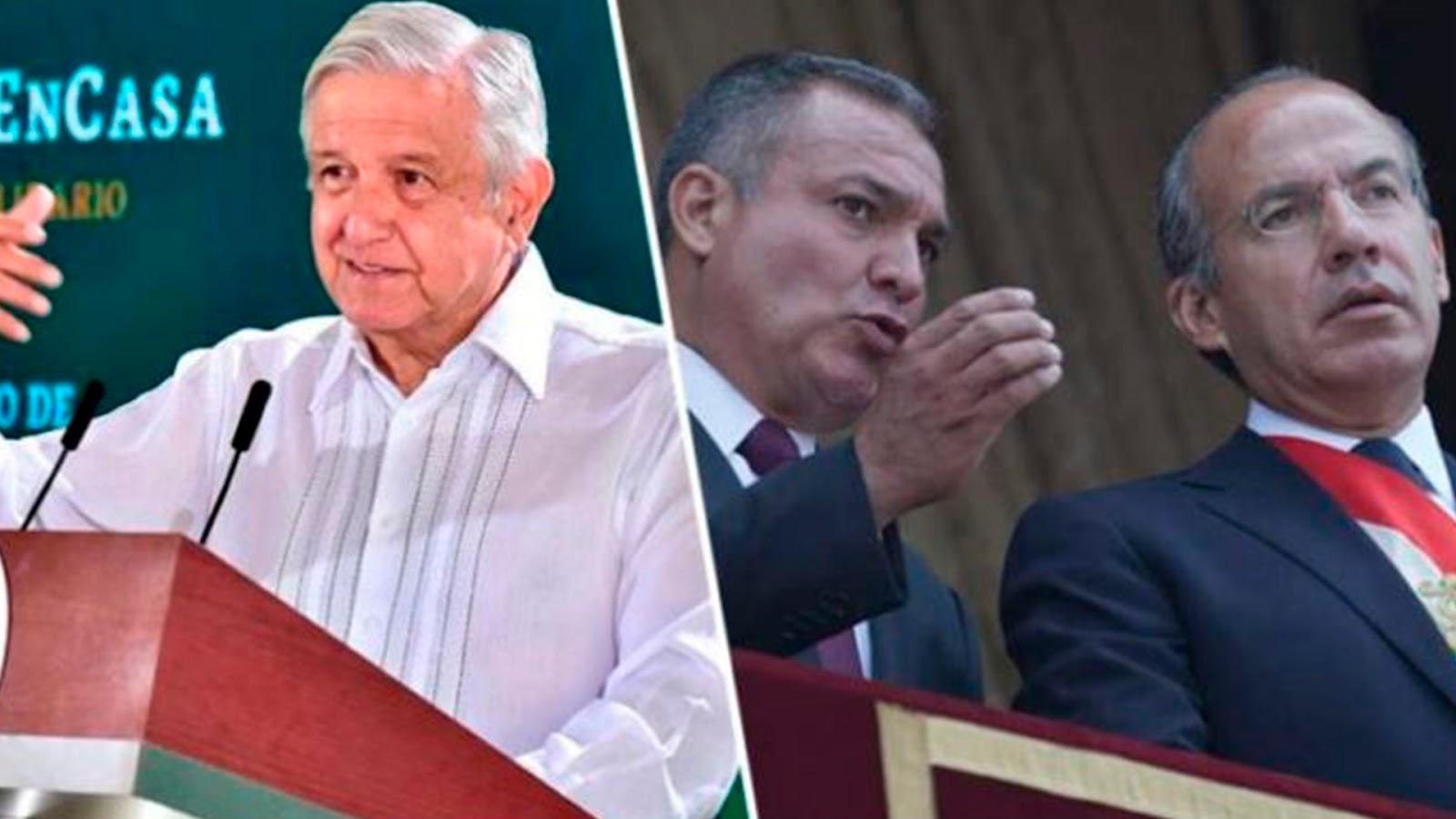 """AMLO responde a Calderón: """"No es conmigo, es con el juez de EU que juzga a García Luna"""""""