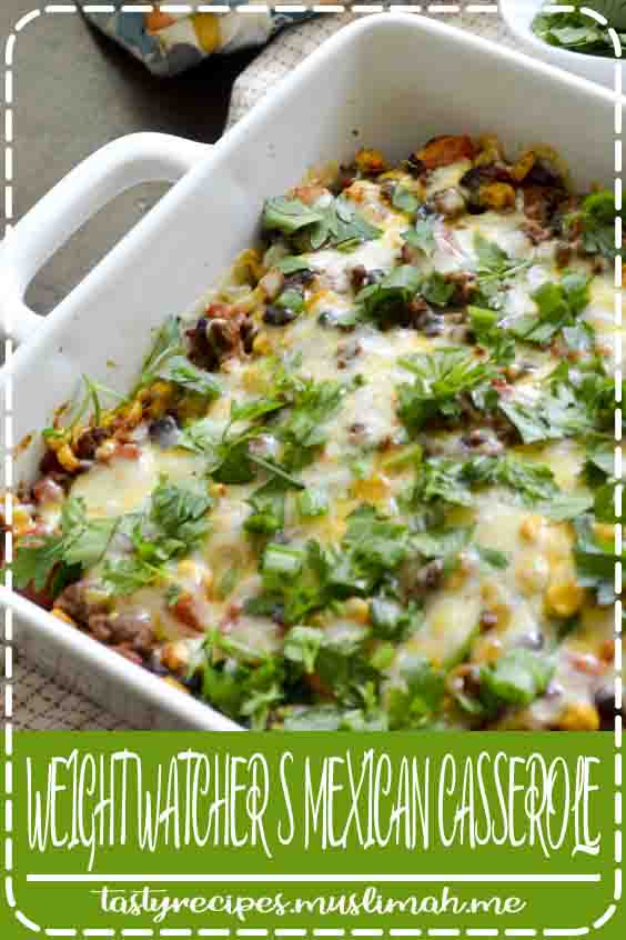 Jump to Recipe·Print Recipe Weight Watcher's Mexican Casserole is going to be your favorite new casserole recipe. It's packed with ground beef, tomatoes, corn, and black beans. I managed to cut back the sodium content down to about 200 mg using no salt added canned food. I've been on this low sodium kick …