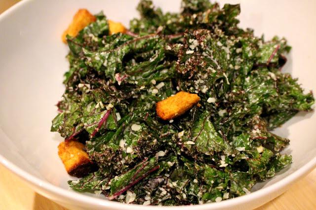 Maple Roasted Acorn Squash with Massaged Kale