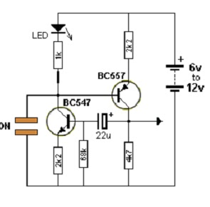 Light circuit diagram: TOUCH SWITCHS