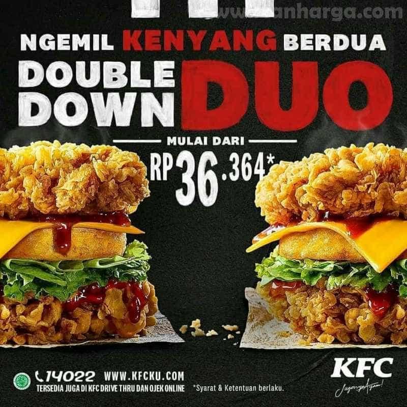 KFC Double Down Duo Periode 1 - 31 Juli 2020