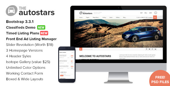 Free Download Auto Stars V1.6 - Car Dealership & Listings WP Theme