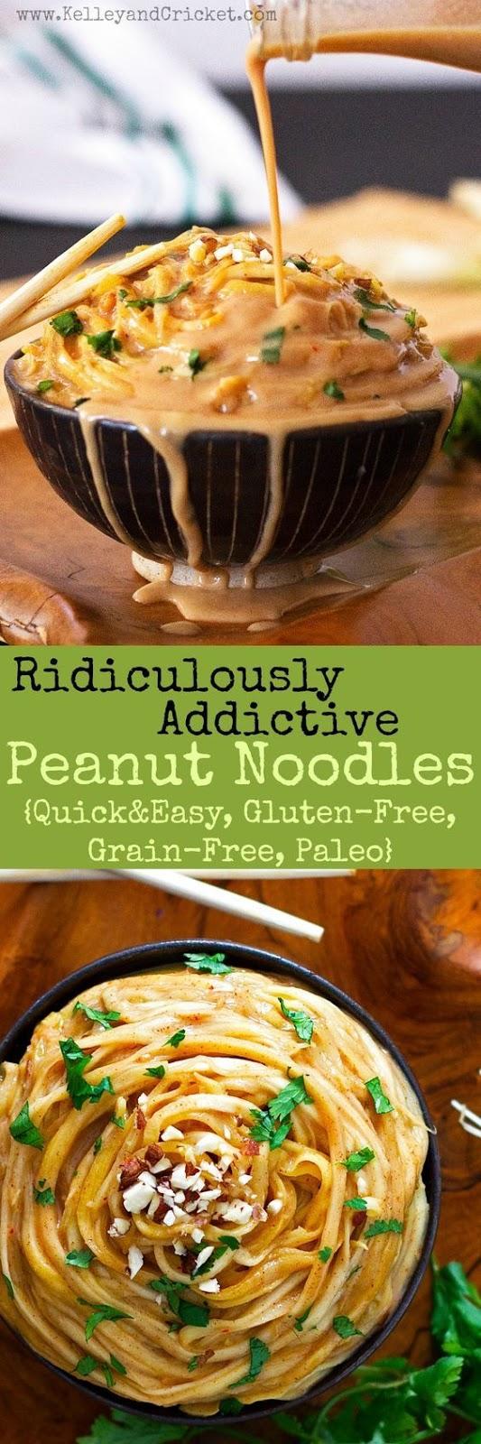 Crazy Good Peanut Noodles {Quick&Easy, Gluten-Free, Grain-Free, Paleo}