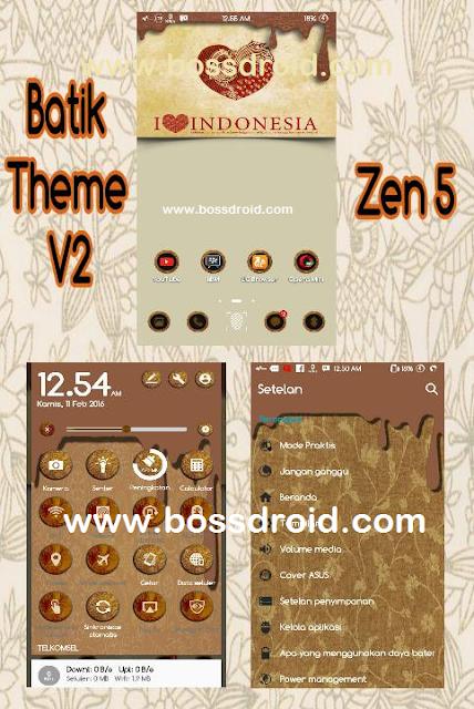 Cara Install Batik theme For Asus Zenfone 5