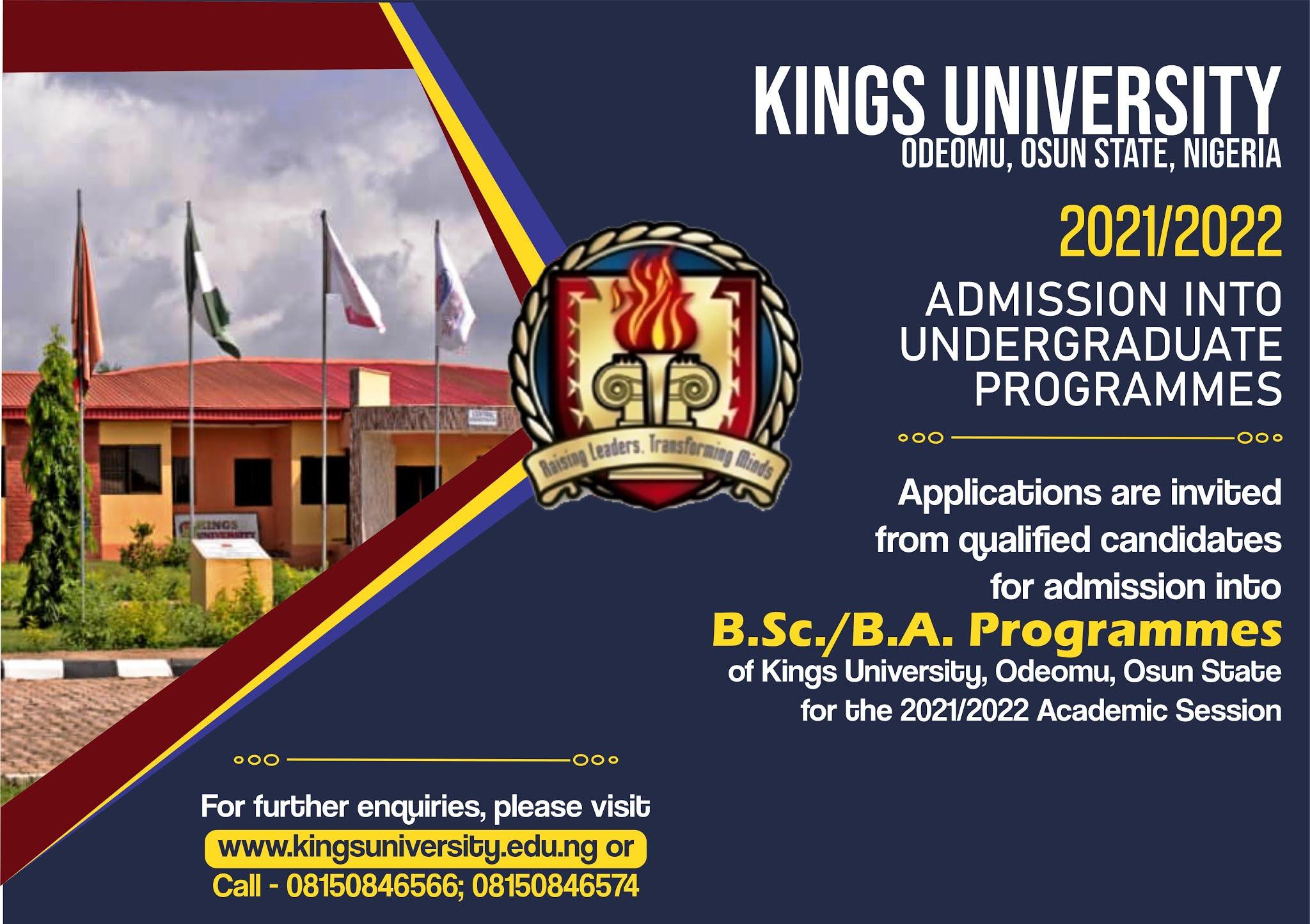Kings University Post-UTME & DE Screening Form 2021/2022