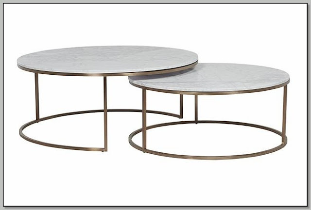 Modern Round Nesting Coffee Tables
