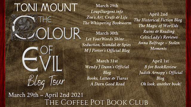 [Blog Tour] 'The Colour of Evil' (The Ninth Sebastian Foxley Medieval Murder Mystery) By Toni Mount #HistoricalFiction