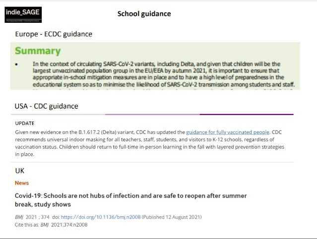 School guidance Autumn Term European CDC US CDC and Uk