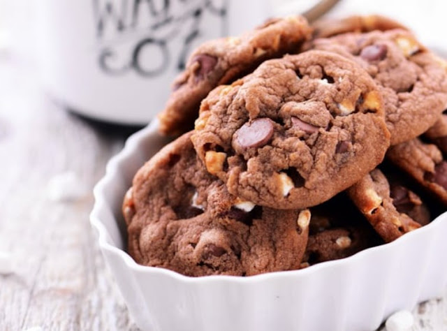 Hot Chocolate Cookies #desserts #cookies