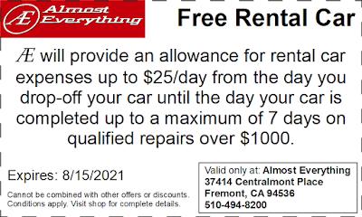 Coupon Free Rental Car July 2021
