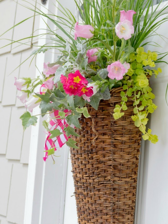 Duke Manor Farm | Spring Basket with Live Plants and Flowers