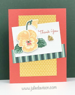 Stampin' Up! Pansy Patch Card ~ 2021-2022 Stampin' Up! Annual Catalog ~ www.juliedavison.com #stampinup