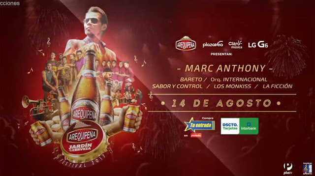 Marc Anthony en Arequipa, 2017