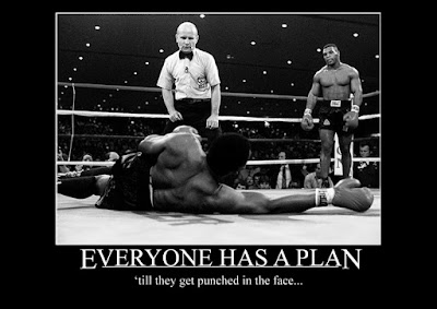 "Mike Tyson... ""Everyone has a plan... 'till they get punched in the face"". Fuckin' awesome isn't it!!"