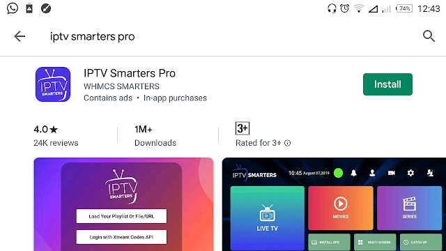 Download IPTV Smarters Pro for android