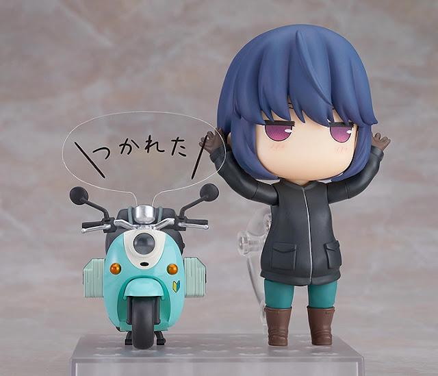 Figuras: Nendoroid de Rin Shima con scooter de Laid-Back Camp - Max Factory