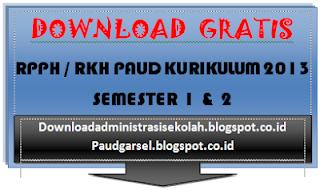 RPPH PAUD Kurikulum 2013 Semester 1