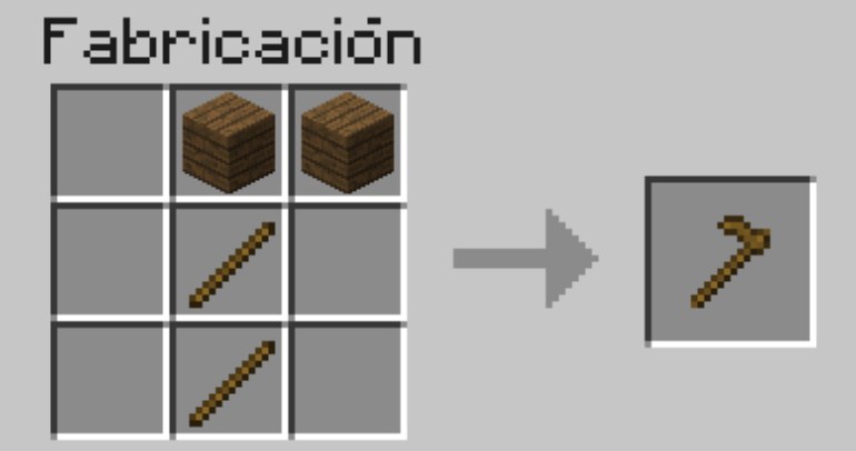 To make a hoe you can use wood, rock, iron, gold or diamonds