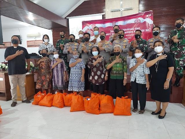 """Alumni Akabri 1998 """"Nawahasta"""" Berikan Bantuan Sosial kepada Warga Balikpapan Terdampak Pandemi"""