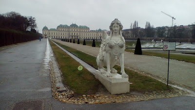 winter belvedere kiss vienna
