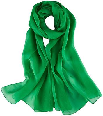 Plain Soft Silk Chiffon Scarves Shawls