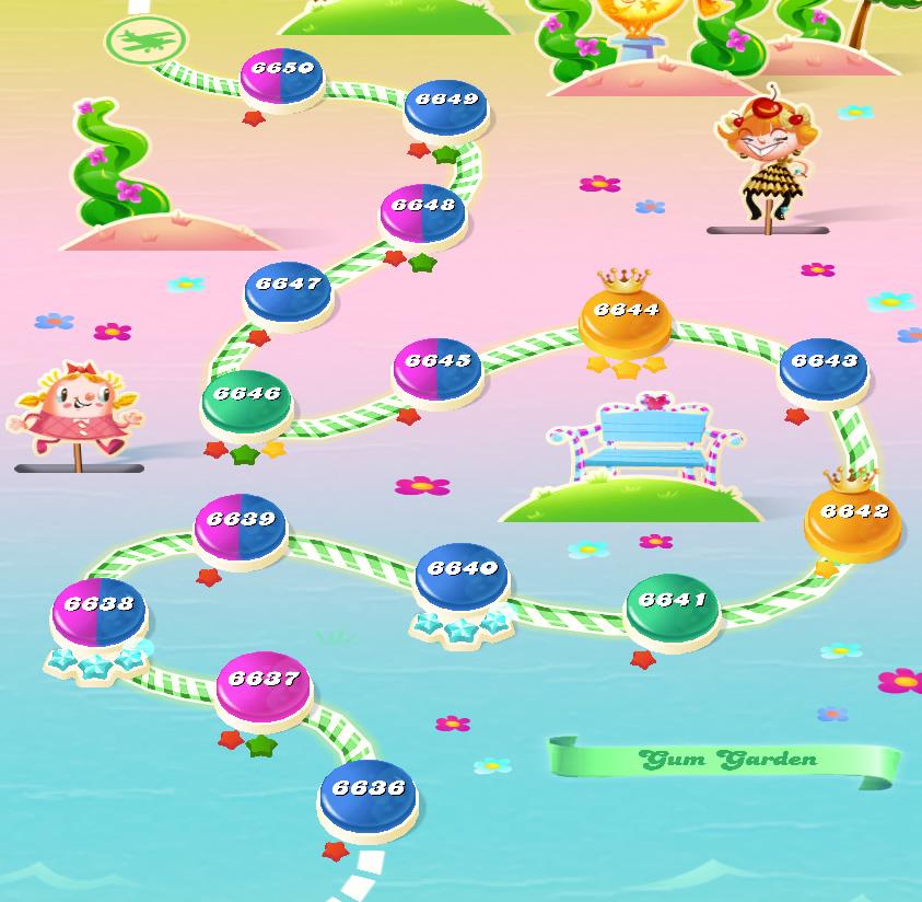 Candy Crush Saga level 6636-6650