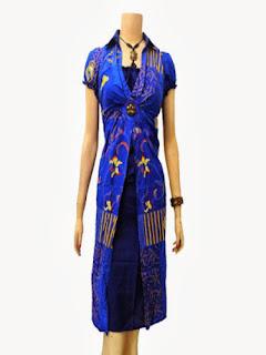 Dress Batik Modern Kantor