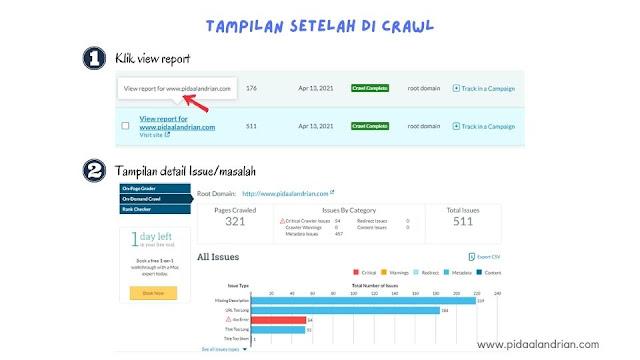View repost untuk melihat hasil detail masalah blog yang ada