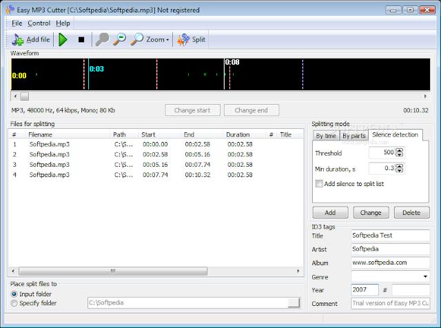 تحميل برنامج قص الاغانى مجانا للكمبيوتر Easy MP3 Cutter