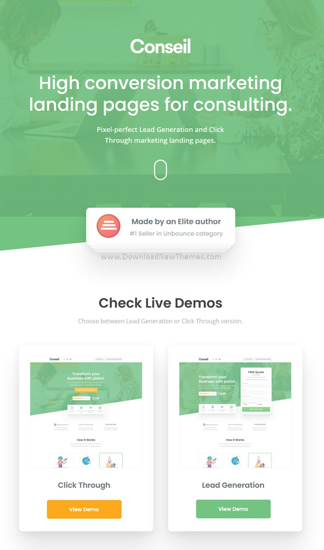 Consulting Business Unbounce Template