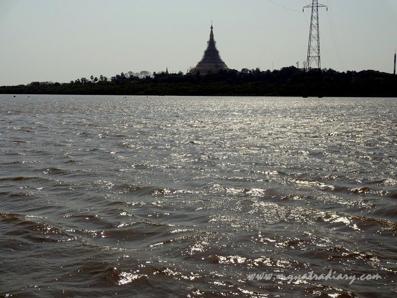 View of the Pagoda from Gorai Khadi ferry in Borivli, Mumbai