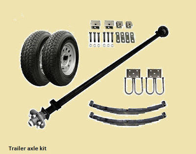 what is trailer axles? ~ Car axle, Thru axle, rear axle, front axle, Stub axle, C.V axle?