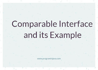 comparable interface and its example