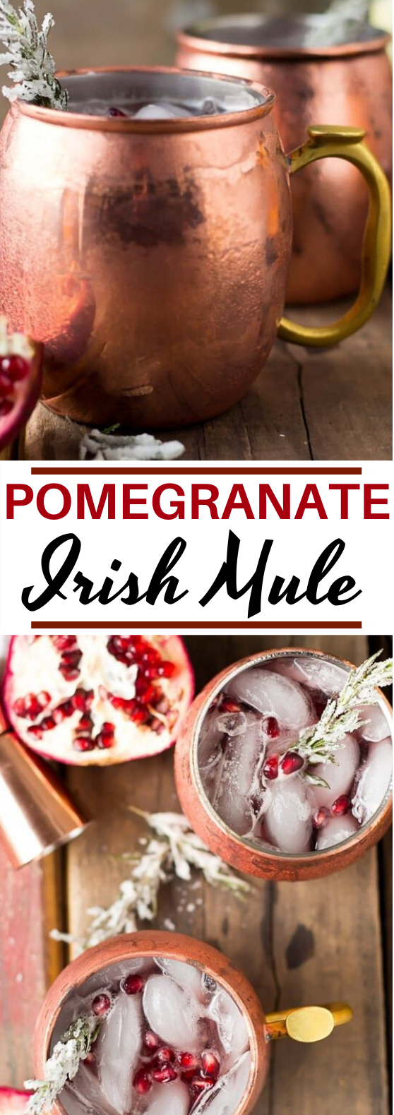 Pomegranate Irish Mule #drinks #alcohol #refreshing #thanksgiving #cocktails