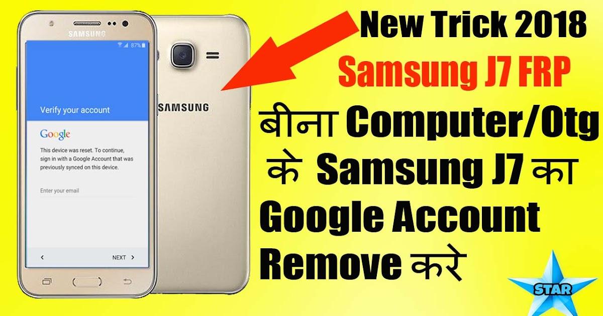 Samsung J7 [sm-J700F] FRP Unlock | Without PC/Otg | Sam J7