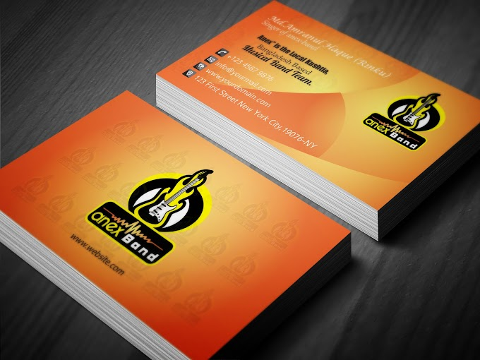 Visiting card Free Download Now    ফ্রি ভিজিটিং কার্ড ডাউনলোড করুন। Anex Musical Band business card