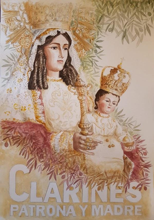 Cartel Anunciador de los Cultos en honor a nuestra Madre la Virgen de los Clarines en Beas 2021