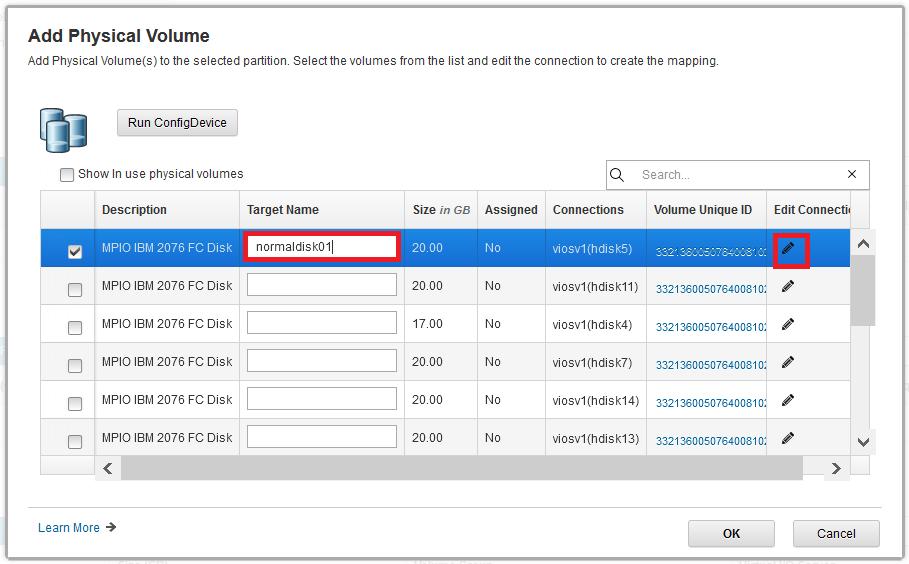 Add vSCSI disk to LPAR using HMC GUI