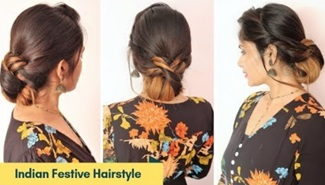 Indian Festive Hairstyle For Medium To Long Hair | Hairstyle For Diwali | Wedding | Party