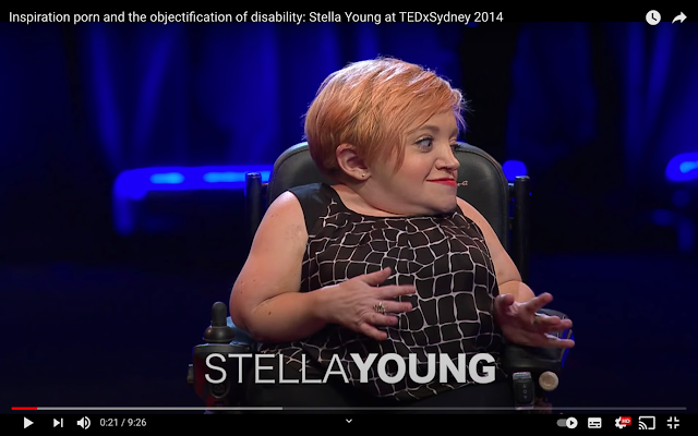 Caption: Stella Young's 2014 TEDx talk: 'Inspiration porn and the objectification of disability'