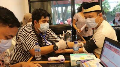 DPC Gerindra Bersama PMI Kota Tangerang Lakukan Giat Donor Darah