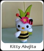 Kitty abejita amigurumi