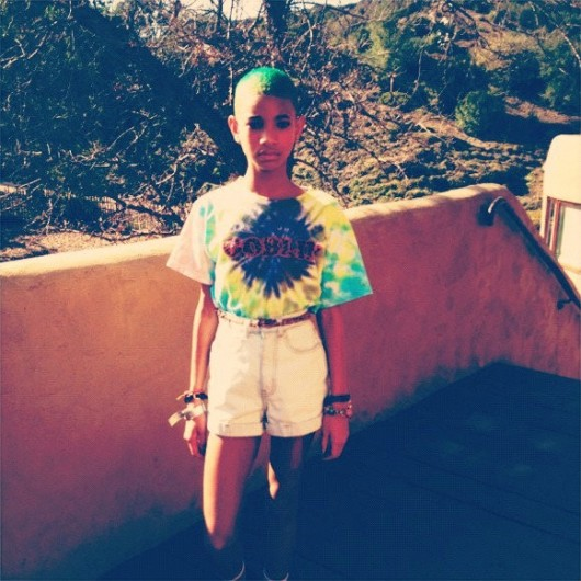 Willow Smith's NEW natural green do!
