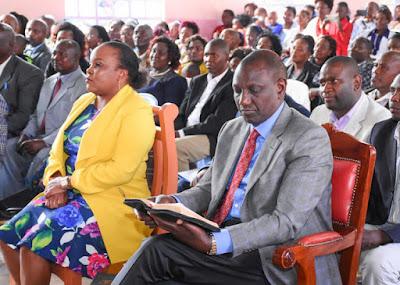 Deputy President with Kirinyaga Women Rep Wambui Ngirici. PHOTO | STAR