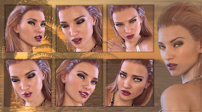 Z Exotic Charm - Morph Dial One-Click Expressions for Genesis 3 Female