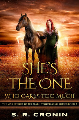 cover of She's the One Who Cares Too Much by S. R. Cronin
