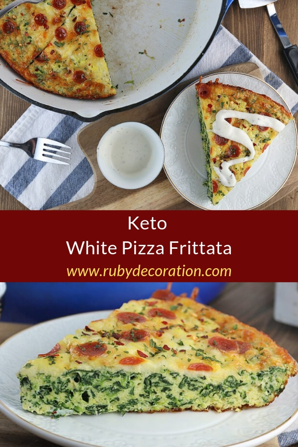 Keto White Pizza Frittata