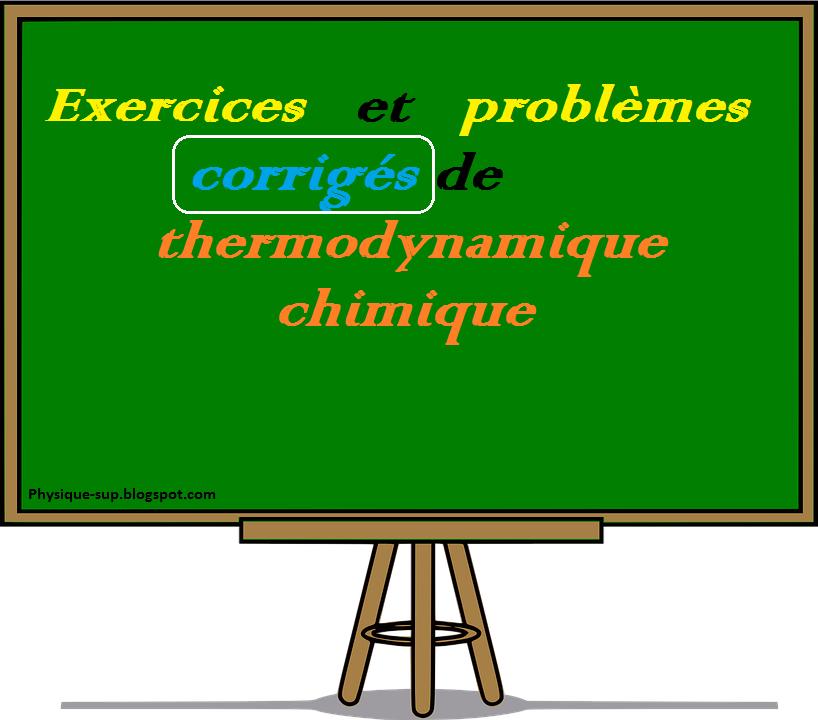 Exercices et probl mes corrig s de thermodynamique for Table thermodynamique de l eau