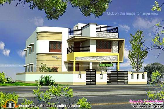 N Home Elevation Zip : Tamilnadu style modern house design kerala home